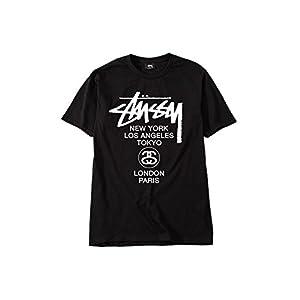 (ステューシー) STUSSY 1903616 WT DOT TEE Tシャツ (M, BLACK) [並行輸入品]