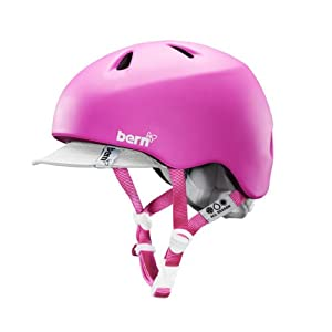 Bern Unlimited Nina Summer Helmet with Visor, X-Small/Small, Pink