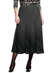 Plus Ombre Striped Long Skirt