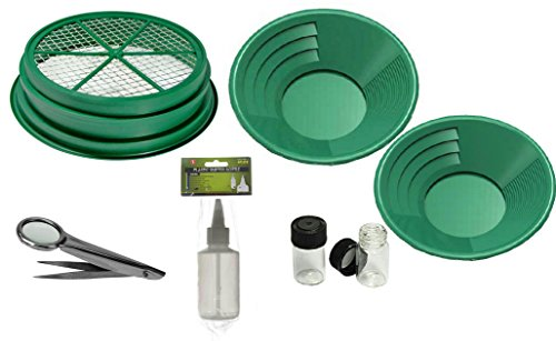 7 pc Prospecting-Mining-Panning Kit- Classifier & 3 Gold Pans,+ MORE!! (Metal Gold Mining Pans compare prices)