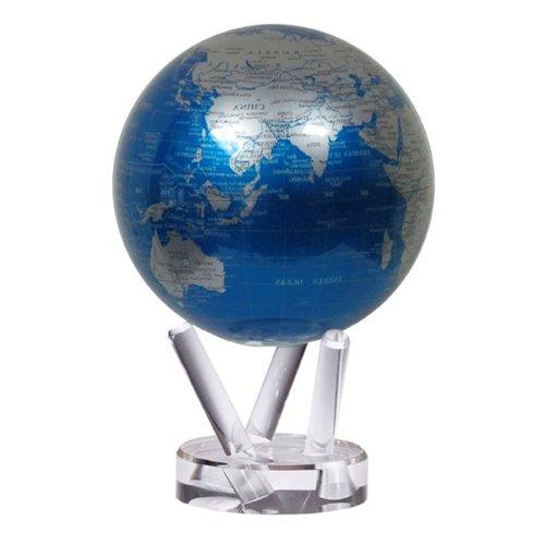 Cobalt Blue And Silver Mova Globe Home Decor
