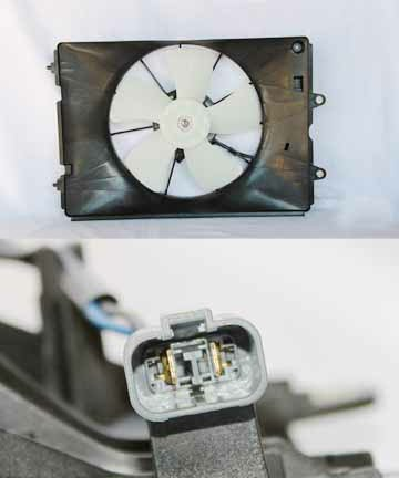 Dual Radiator Cooling Fan w// Module for 07-09 Lexus RX350