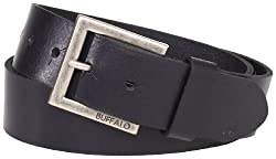 Buffalo by David Bitton Men's Distressed Jean Belt, Black, Large