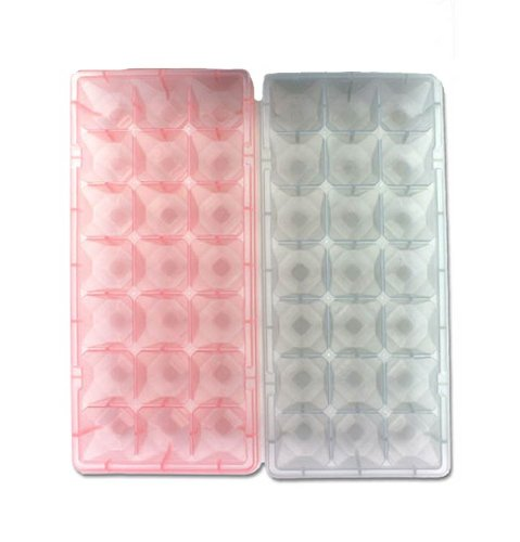 Diamond Jewel Gem Shaped Party Small Mini Ice Cube Trays - Set of 2