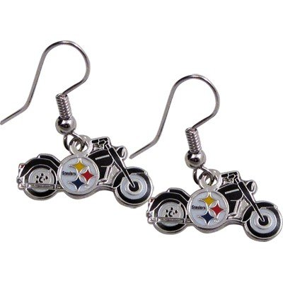 EARRING STEELERS MOTORCYCLE