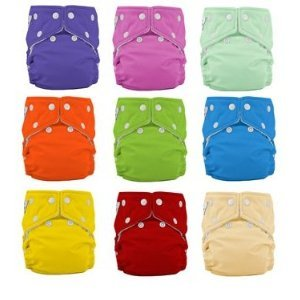 12 Pack FuzziBunz Cloth Diapers-BOY Colors MEDIUMB001D1IRQO