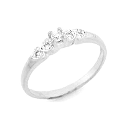 10k WG Diamond Ring Size 7