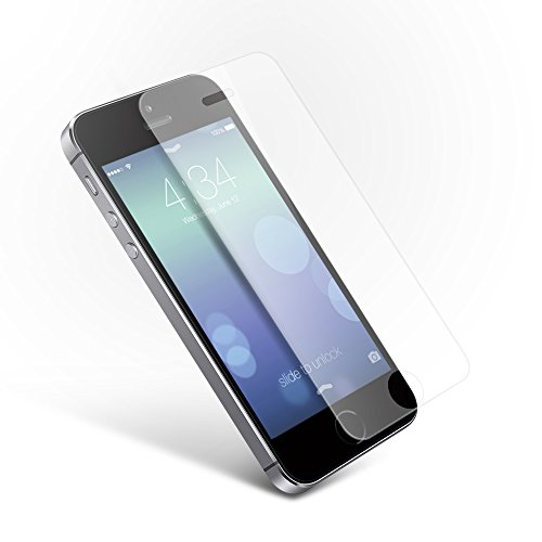 Coolreall iPhone 5 5S 5C SE Screen Protector Tempered Glass Screen Protector Film - Transparent (0.33mm HD Ultra Clear)