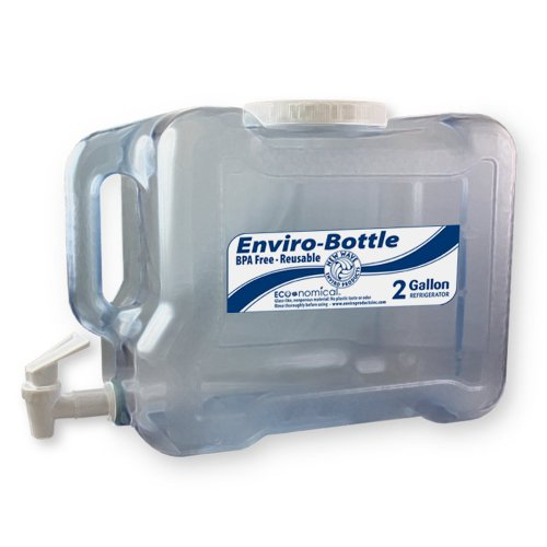 New Wave Enviro BpA Free 2 Gallon Refrigerator Bottle with Spigot (2 Gallon Bottle compare prices)