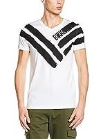 Dirk Bikkembergs Camiseta Manga Corta (Blanco)