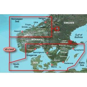 Garmin - Veu300F Schweden Fiskekort BlueChart g2 Vision