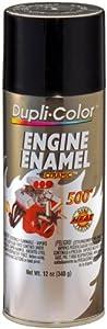 Dupli-Color DE1613 Ceramic Gloss Black Engine Paint - 12 oz.