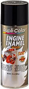 Dupli-Color DE1613 Ceramic Gloss Black Engine Paint - 12 oz.