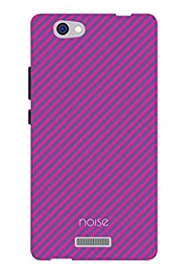 Noise Diagonal Purple Printed Cover for Gionee M2