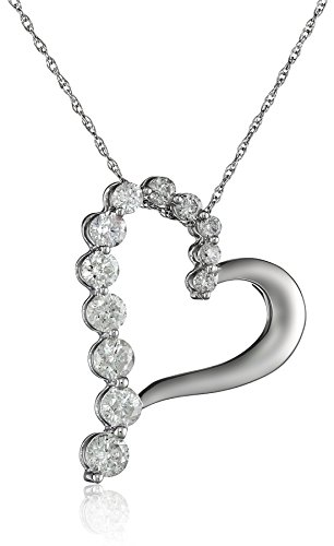 10k-White-Gold-Diamond-Journey-Heart-Shaped-Pendant-1-cttw-H-I-Color-I2-I3-Clarity