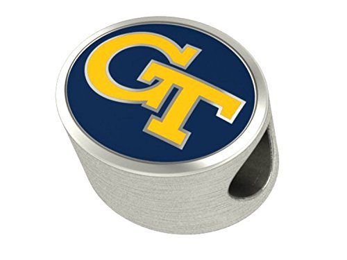 Georgia Tech Yellow Jackets Charms Fit Most European Style Beaded Charm Bracelets
