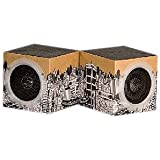 OrigAudio Fold n Play Recycled Speakers for iPod, iPhone, and Any Standard 3.5mm Jack (Cityscape)