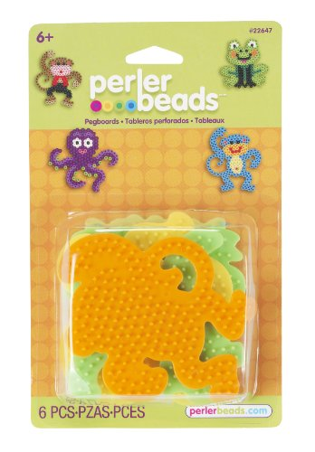 Perler Beads Small Animal Pegboards- 4 Count - 1