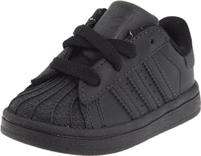 adidas Originals Superstar 2 Sneaker (Infant/Toddler),Black/Black,4 M US Toddler