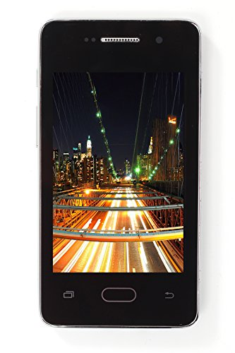 Kimfly K15 4 Inch Chinese Mobile Phone (White) with LED Torch Digital Camera FM Radio Dual Sim Bluetooth