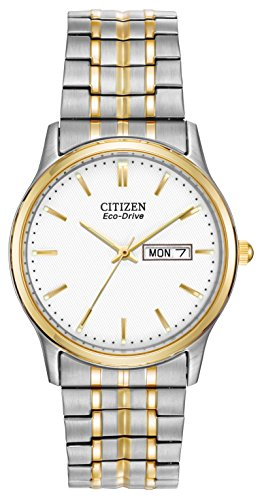 Citizen Men's Eco-Drive Flexible Band Two-Tone Watch #BM8454-93A