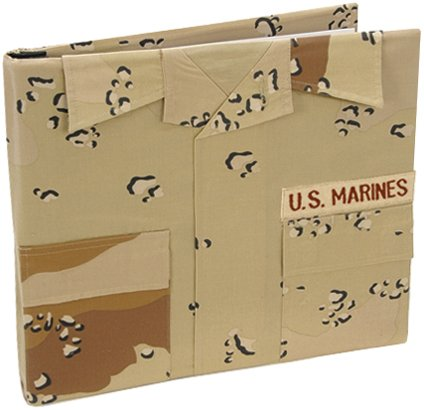 Uniformed U.S. Marine Desert Battle Dress Uniform Keepsake Album