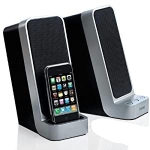 iHome iP71 Computer Stereo System with Dock for iPod (Silver)