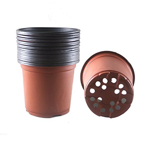 6 Inch Plastic Flower Seedlings Nursery Supplies Planter Pot/pots Containers,40 Pack (6 Plastic Pot compare prices)
