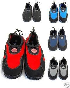 Blue Rush Mens Beach Wetsuit Aqua Shoes - 8 - Black/Navy