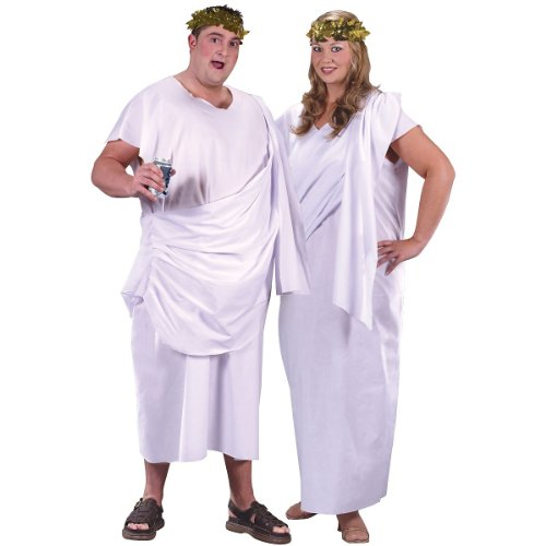 Holiday Times Unlimited Inc Men's Toga Toga Unisex Costume White One Size