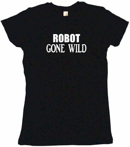 Robot Gone Wild Women'S Tee Shirt Small-Black Babydoll