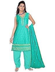 Elan Vital Women's Satin Straight Salwar Suit