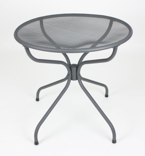 All-weather Metal Patio Table - Silver Powder Coated (Round 32)