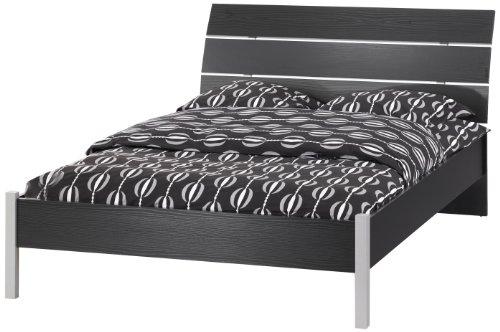 Buy Tvilum San Francisco Full Bed, Black and Woodgrain
