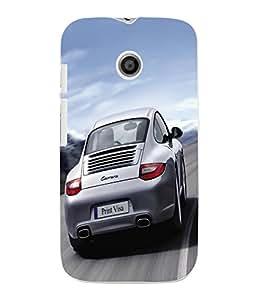 Fuson 3D Printed Car Designer Back Case Cover for Motorola Moto E - D579