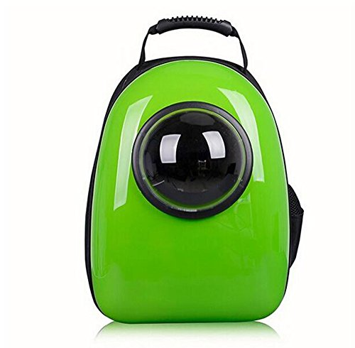 Fashion Shop Innovative Patent Bubble Traveler Pet Carriers for Cats and dogs Both the Meash and Bubble Cover (Green)