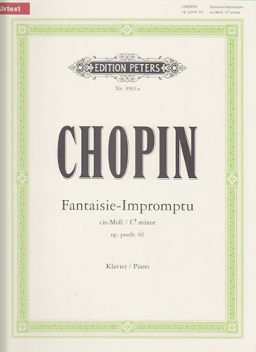 EDITION PETERS Chopin, Frédéric<br /><br /><br /><br />CHOPIN F. - FANTAISIE-IMPROMPTU CIS-MOLL OP. PH. 66 - PIAN Partition classique Piano - instrument à clavier Piano