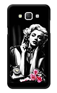"Humor Gang Marilyn Monroe Monochrome Printed Designer Mobile Back Cover For ""Samsung Galaxy j5"" (3D, Glossy, Premium Quality Snap On Case)"