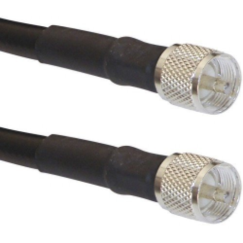 Times Microwave LMR-400 PL259 Coax Ham or CB Radio Jumper Antenna Coaxial UHF VHF HF Coax Cable Jumper RF Transmission Line PL-259 Connectors - Made in USA - (6 ft patch cable)