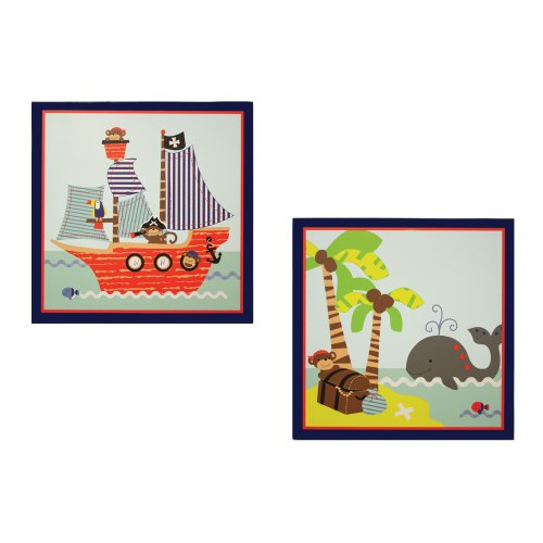 Bedtime Originals 2 Piece Wall Decor, Treasure Island