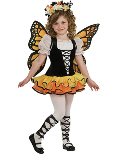 girls - Monarch Butterfly Kids Costume Md 8-10 Halloween Costume