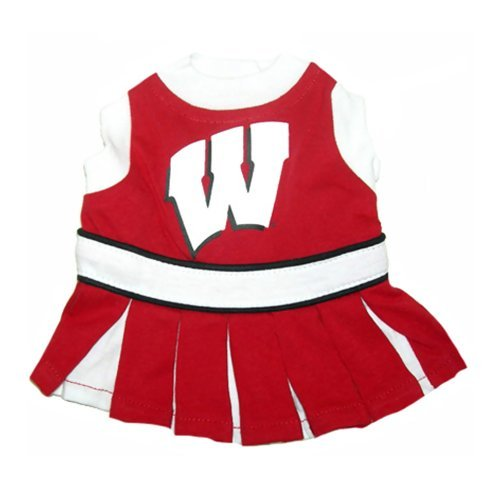 Mirage Pet Products Dog Apparel Wisconsin Badgers CheerLeading Dress Uinform outfit