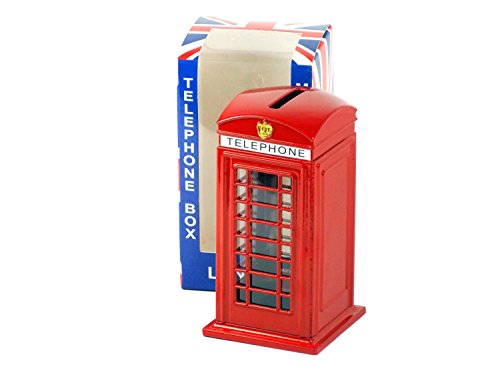 gross-rot-london-telefon-box-collectible-die-cast-metall-14-cm-hoch-mit-einem-union-jack-auf-der-box
