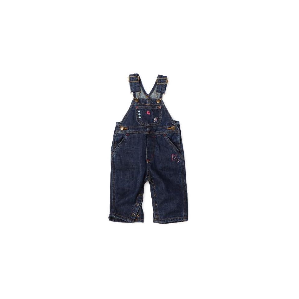 Carhartt Baby Girls Washed Denim Bib Overall