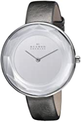 Skagen Women's SKW2274 Gitte Faceted Stainless Steel Watch with Leather Band