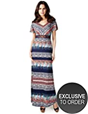 Per Una Beaded Abstract Print Maxi Dress
