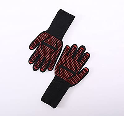 """Bango Best Insulated Barbecue and Cooking Gloves - 14"""" Length for Cooking Grilling and Frying- Great for Turkey Fryers, Bbq, Smokers and Oven"""