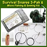 Thompson Survival Snares 3 Pak and Micro Fishing / Sewing Kit