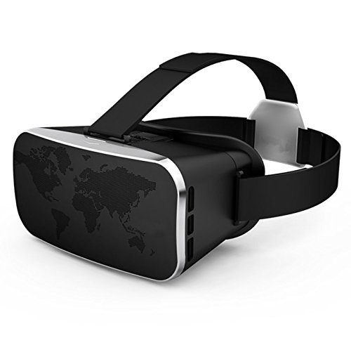 """3D VR Glasses,CASEPLAY 3D Virtual Reality Headset Adjust Cardboard Movie Video Game Box for iPhone 7/7plus/6s/6 plus/6/5s/5 Samsung Galaxy s5/s6/s7/note4/note5 and Other 4.0""""-6.0"""" smartphones"""