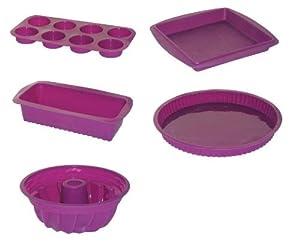 Jocca set de 5 moldes de silicona color variado amazon - Moldes silicona amazon ...